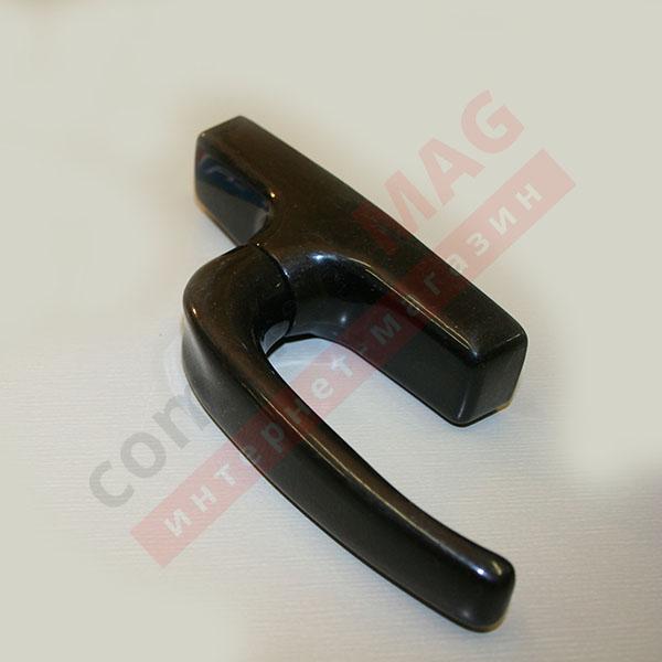 Ручка оконная ригельная 7CR/41 (AL), чёрная