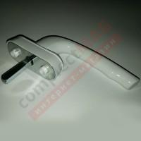 Ручка оконная метал. ТИТАН, штифт 37 мм (белая)