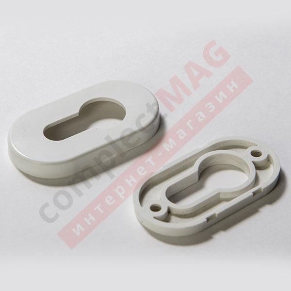 Накладка на замковый цилиндр пластиковая, (бел)