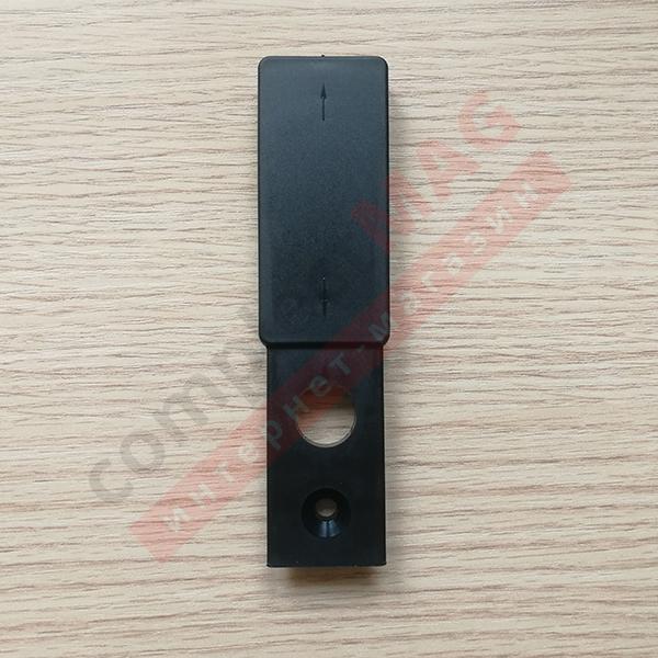 Розетка-заглушка оконной ручки, сдвижная (черная)