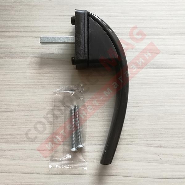 Ручка оконная АН Рото (ROTO swing) штифт 37 мм (коричневая)