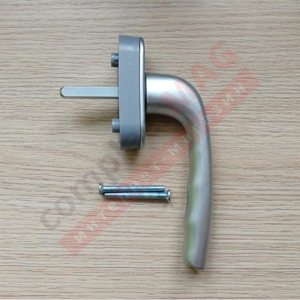 Ручка оконная метал. ТИТАН, штифт 37 мм (серебро)