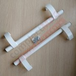 Ручка дверная (офисная) прямая 500 мм, белая