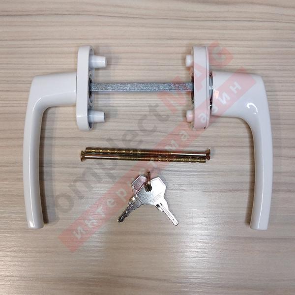 Балконный гарнитур симметр. с ключом, BDH42-Omega (бел)