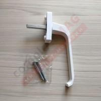 Ручка оконная металлическая Хермо, штифт 35 мм (белая)