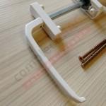 Балконный асимметричный гарнитур, BHS1  (бел)