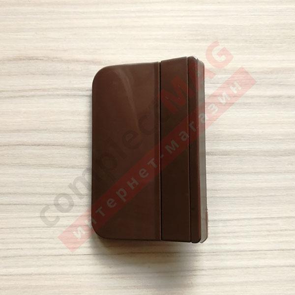 Ручка балконная (зацеп), пластиковая (коричневая)