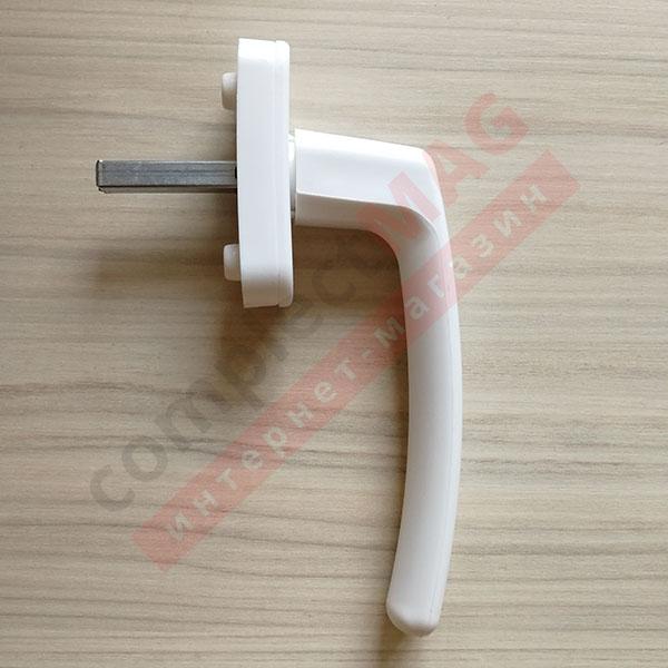 Ручка оконная пластиковая Рото, штифт 40 мм (белая)