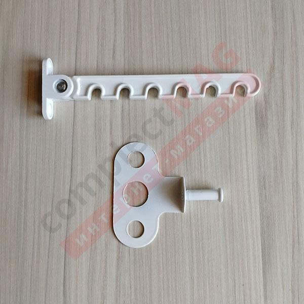 Гребенка оконная алюминиевая 6-ти позиционная (бел)