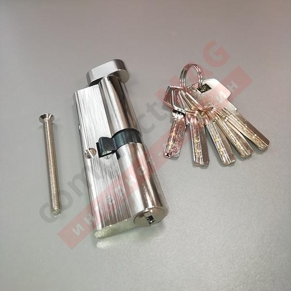 Цилиндр замка ключ-вертушка, 40*50 мм. (T - вертушка)