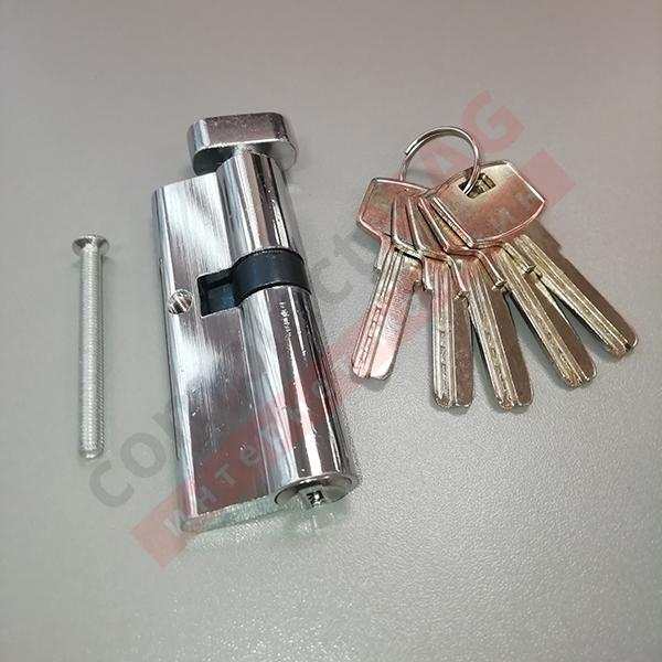 Цилиндр замка ключ-вертушка, 45*35 мм. (T - вертушка)