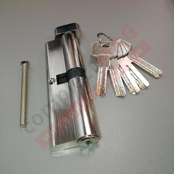 Цилиндр замка ключ-вертушка, 50*50 мм. (T - вертушка)