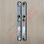 Нажимной гарнитур дверной DHS30/92, усиленный (бел)