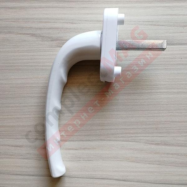 Ручка оконная метал. (аналог HOPPE), штифт 38 мм (белая)