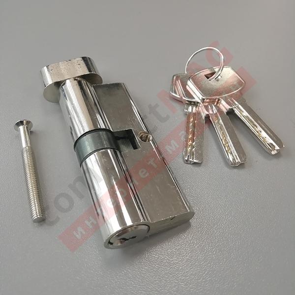Цилиндр замка ключ-вертушка, 30*30 мм. (T - вертушка)