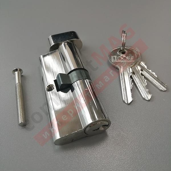 Цилиндр замка ключ-вертушка, 35*35 мм. (T - вертушка)