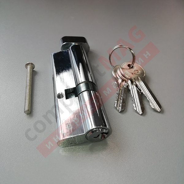 Цилиндр замка ключ-вертушка, 35*55 мм. (T - вертушка)