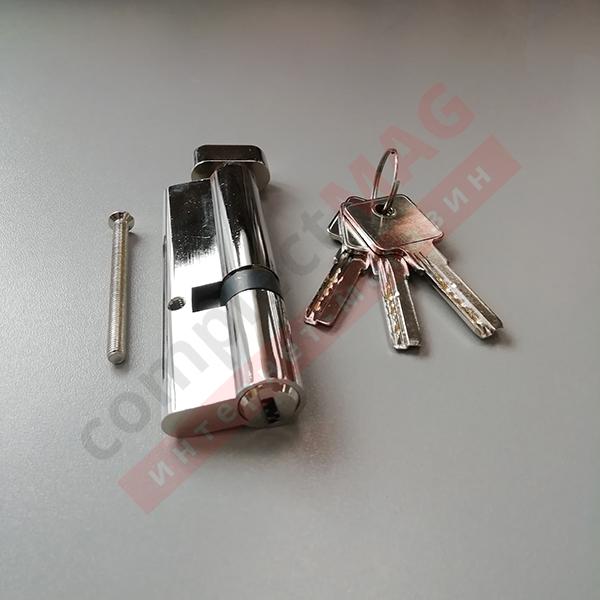 Цилиндр замка ключ-вертушка, 35*60 мм. (T - вертушка)