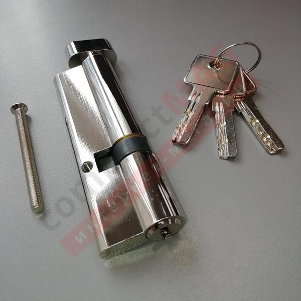 Цилиндр замка ключ-вертушка, 35*65 мм. (T - вертушка)