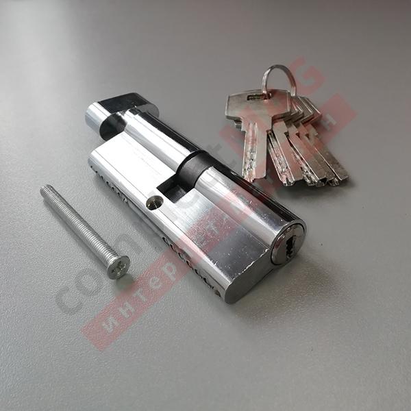 Цилиндр замка ключ-вертушка, 40*40 мм. (T - вертушка)