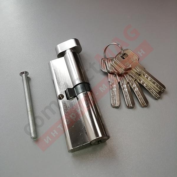 Цилиндр замка ключ-вертушка, 45*45 мм. (T - вертушка)