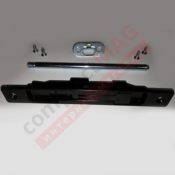 Шпингалет врезной для алюм дверей с ригелем 170 мм, чёрн