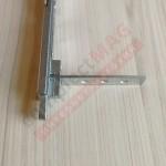Шпингалет дверной с фальцевым усилителем маятников