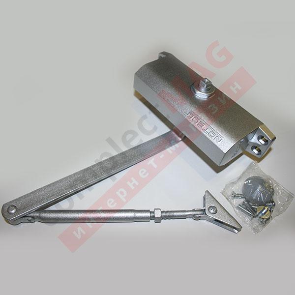 Доводчик дверной 5012 (60 кг), с рычагом, СЕРЕБРО