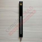 Шпингалет для алюминиевых дверей наклад. 220 мм, чёрн