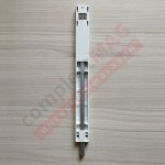 Шпингалет для алюминиевых дверей накладной 220 мм, бел