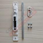 Шпингалет врезной для алюм дверей с ригелем 170 мм, бел