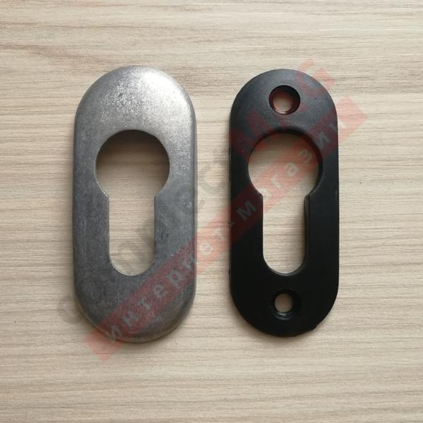 Накладка на замковый цилиндр металл., (неокрас)
