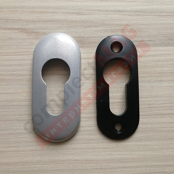 Накладка на замковый цилиндр металл., (серебро)
