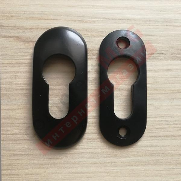 Накладка на замковый цилиндр металлическая, (чёрн.)
