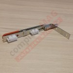 Шпингалет штульповой REZE с красной ручкой, 160 мм.