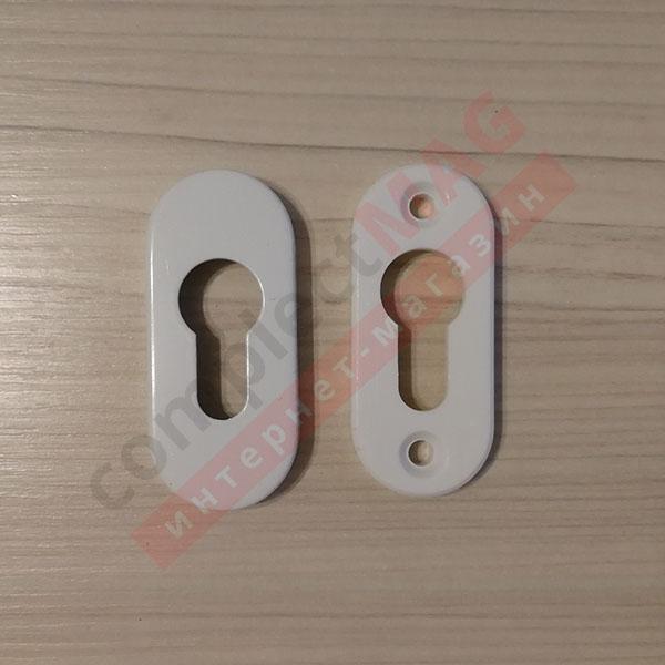 Накладка на замковый цилиндр металлическая, (бел)