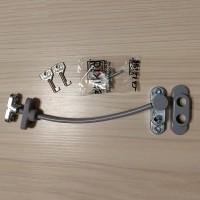 Замок с тросом и ключом Penkid Cable Lock (серый)