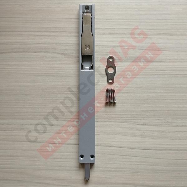 Шпингалет для алюм. дверей наклад. 220 мм, СЕРЕБРО