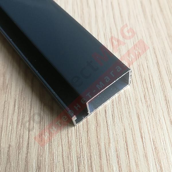 Рамный профиль москитной сетки, 25 мм, ТЕМНО-СЕРЫЙ