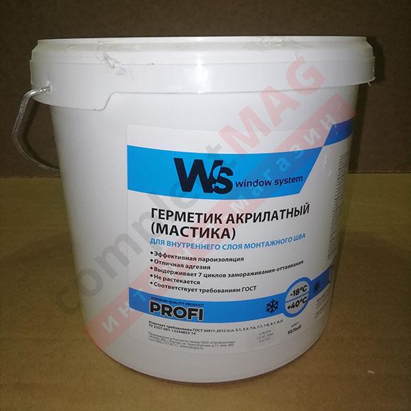 Герметик WS пароизоляционный, 5л, 7кг, бел