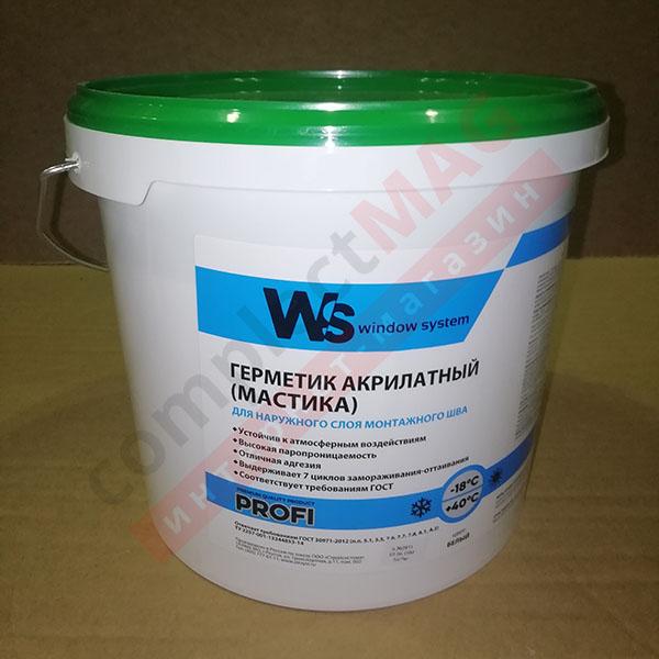 Герметик WS паропроницаемый, 5л, 7кг, бел