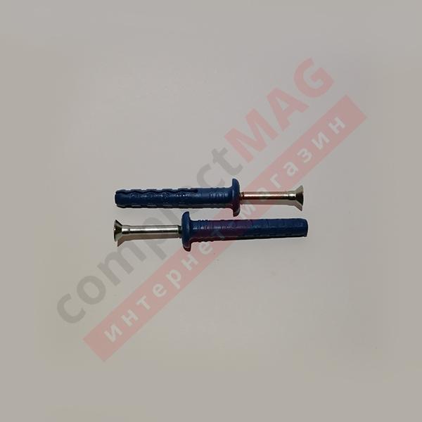Дюбель-гвоздь ДГ6х40/60/80 мм, грибовидный борт
