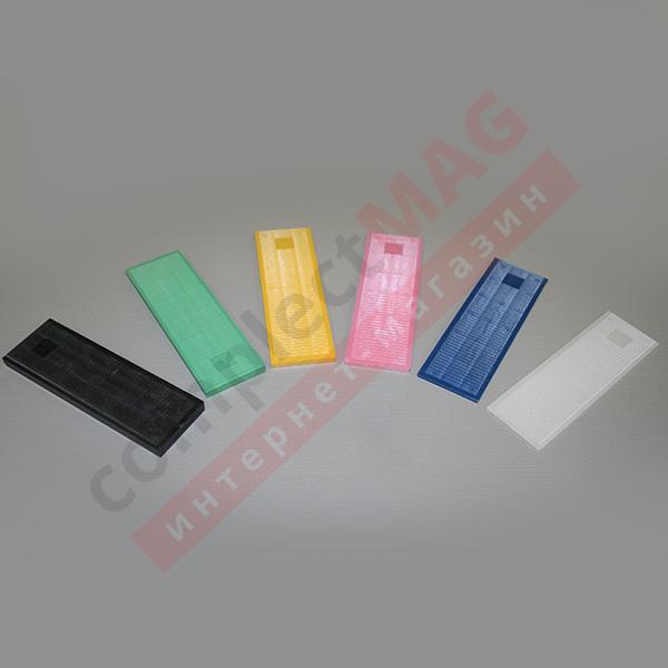 Подкладка под стеклопакет 40X100 мм, толщина 1 - 6 мм.