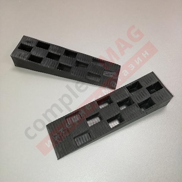 Клин монтажный пластиковый 115x30x19 мм, чёрный
