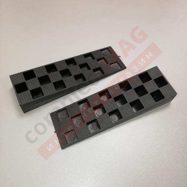 Клин монтажный пластиковый 143x43x22 мм, чёрный