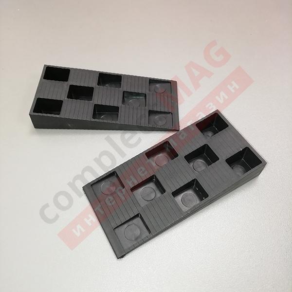 Клин монтажный пластиковый 91x43x15 мм, чёрный