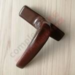 Ручка оконная ригельная 7CR/41 (AL), коричневая